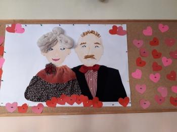 portret babci i dziadka -praca grupowa