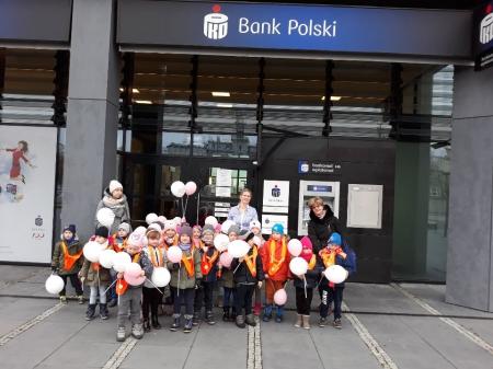 Wycieczka Żuków do banku